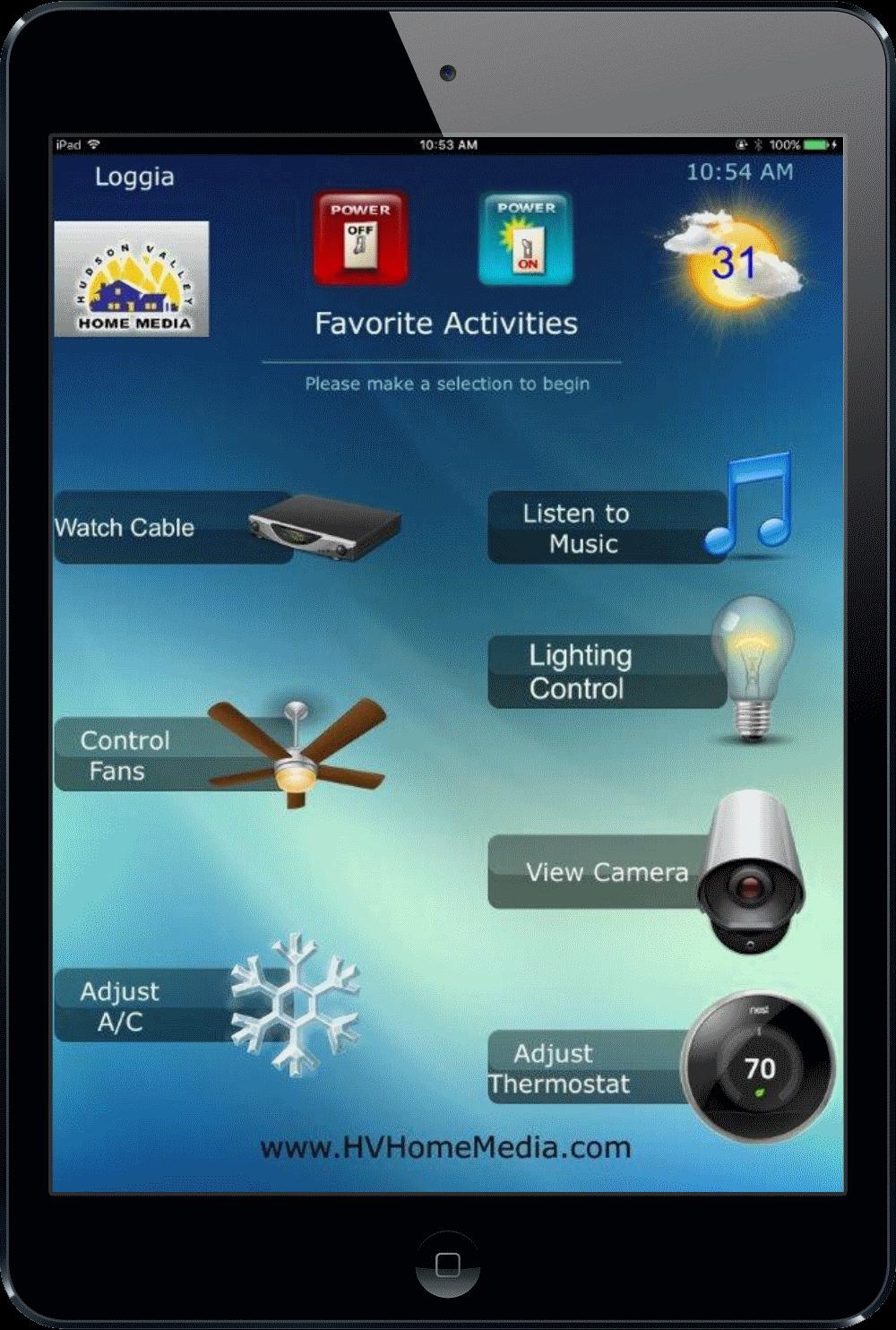 Universal Ipad Remote - Nyack, NY - HV Home Media - Hudson Valley Home Media - Smart Home Whole House Automation
