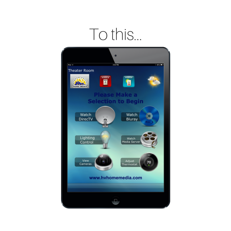 Copy of Smart Home Universal Remote Ipad - Hudson Valley Home Media in Nyack, NY