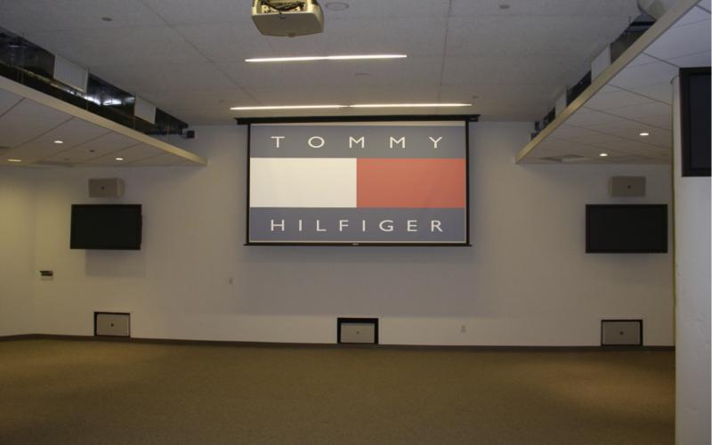 Office overhead projector installation.jpg