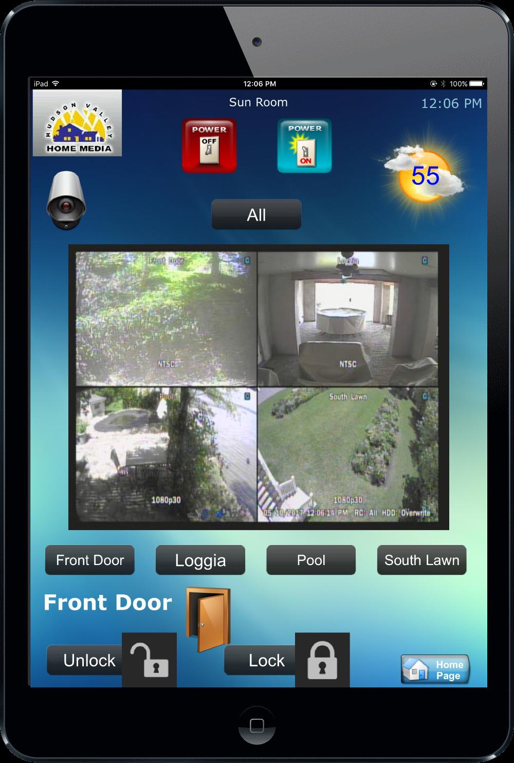 Universal Ipad Remote - Nyack, NY - HV Home Media - Hudson Valley Home Media - Watch Security Cameras - CCTV