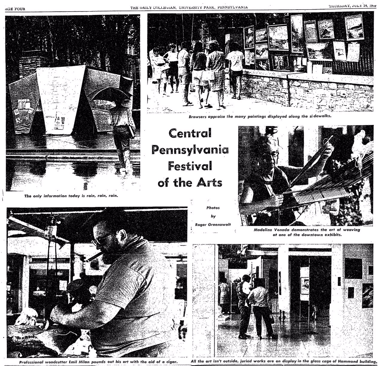 A shot of Emil making a bowl at the Art Festival from the  Daily Collegian  July 24, 1969 (Photos by Roger Greenawalt.  Used by permission of the  Daily Collegian ).