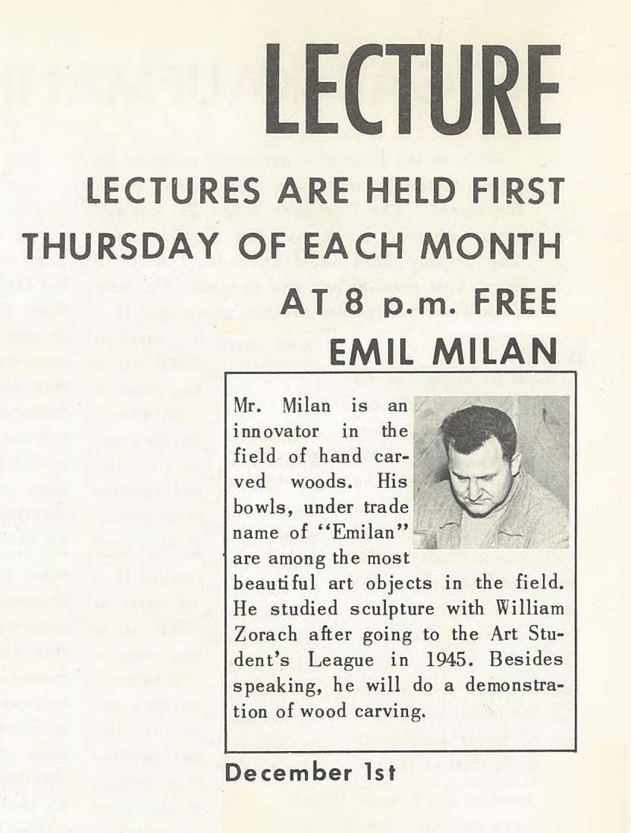 Emil Milan in the 1950's Pottery Barn brochure.