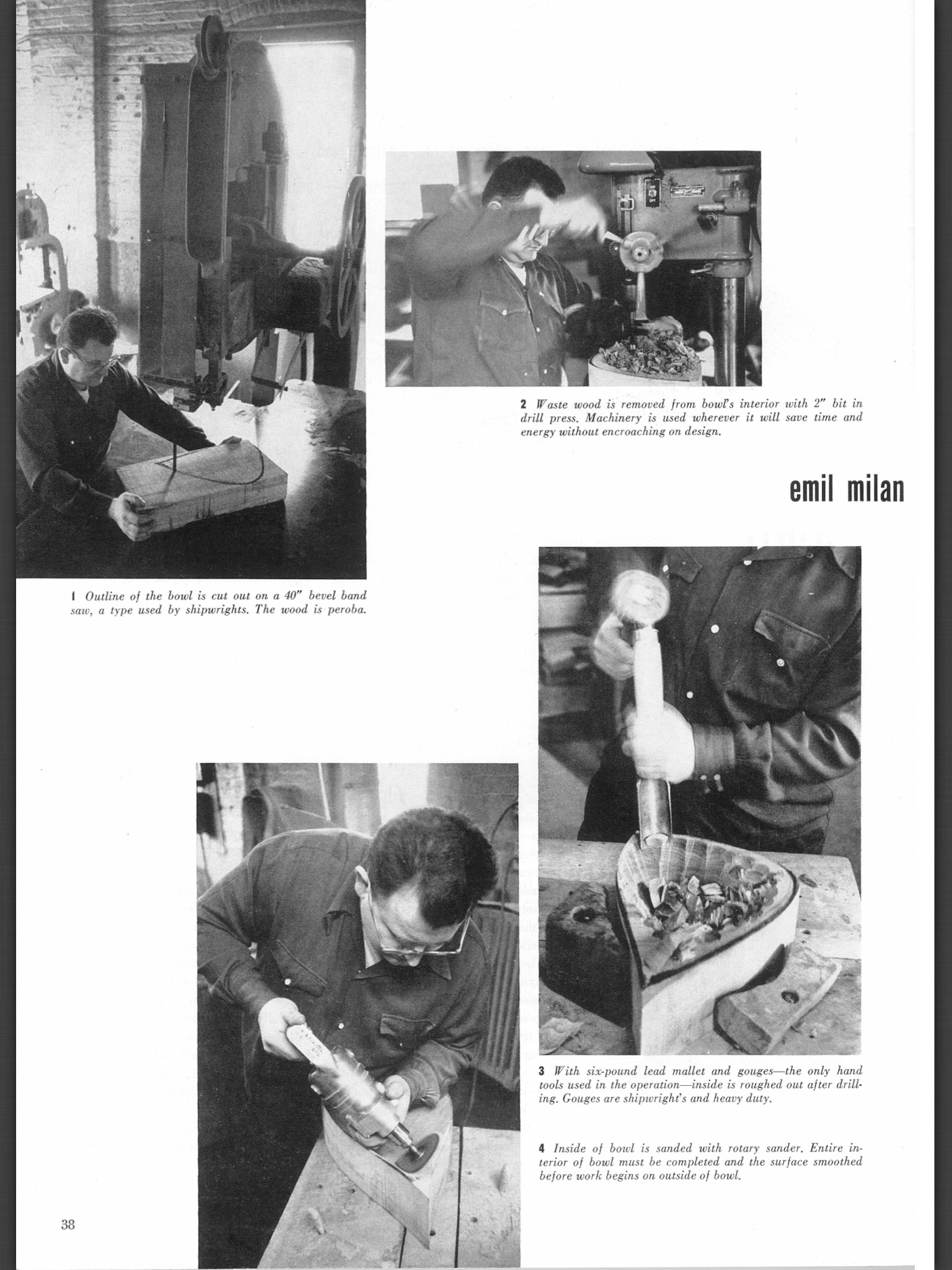 Photos of Emil's work process in the July 1957 issue of the ACC's  Craft Horizons  magazine.  Photos by Raymond Jacobs, used by permission. Page layout courtesy of the American Craft Council.