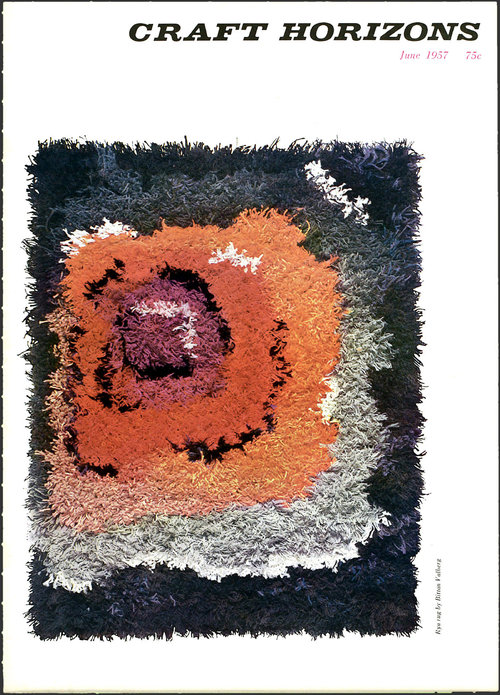 Cover of  Craft Horizons  magazine. Courtesy of the American Craft Council