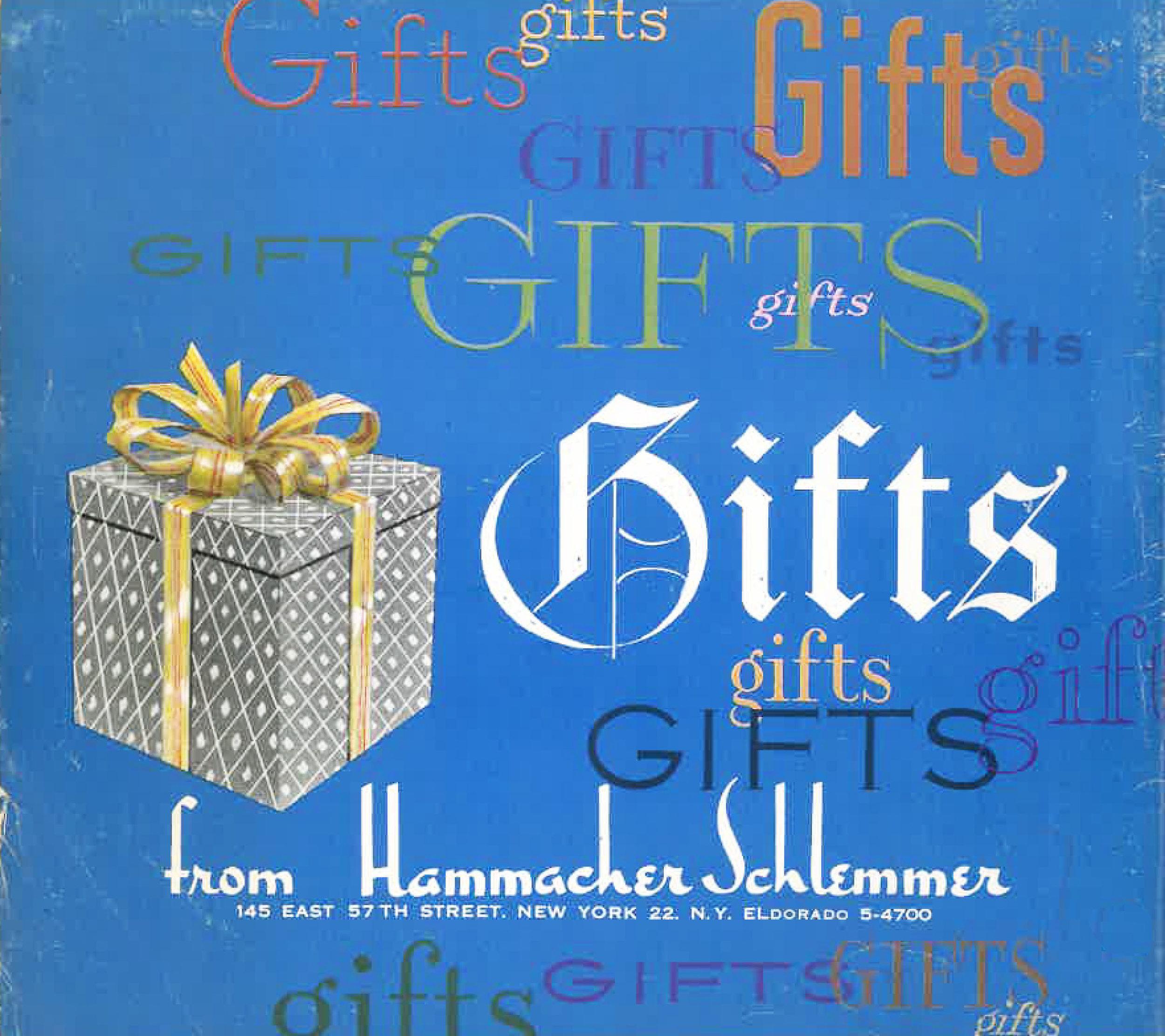 Cover of the 1954 Hammacher Schlemmer Gift Catalog