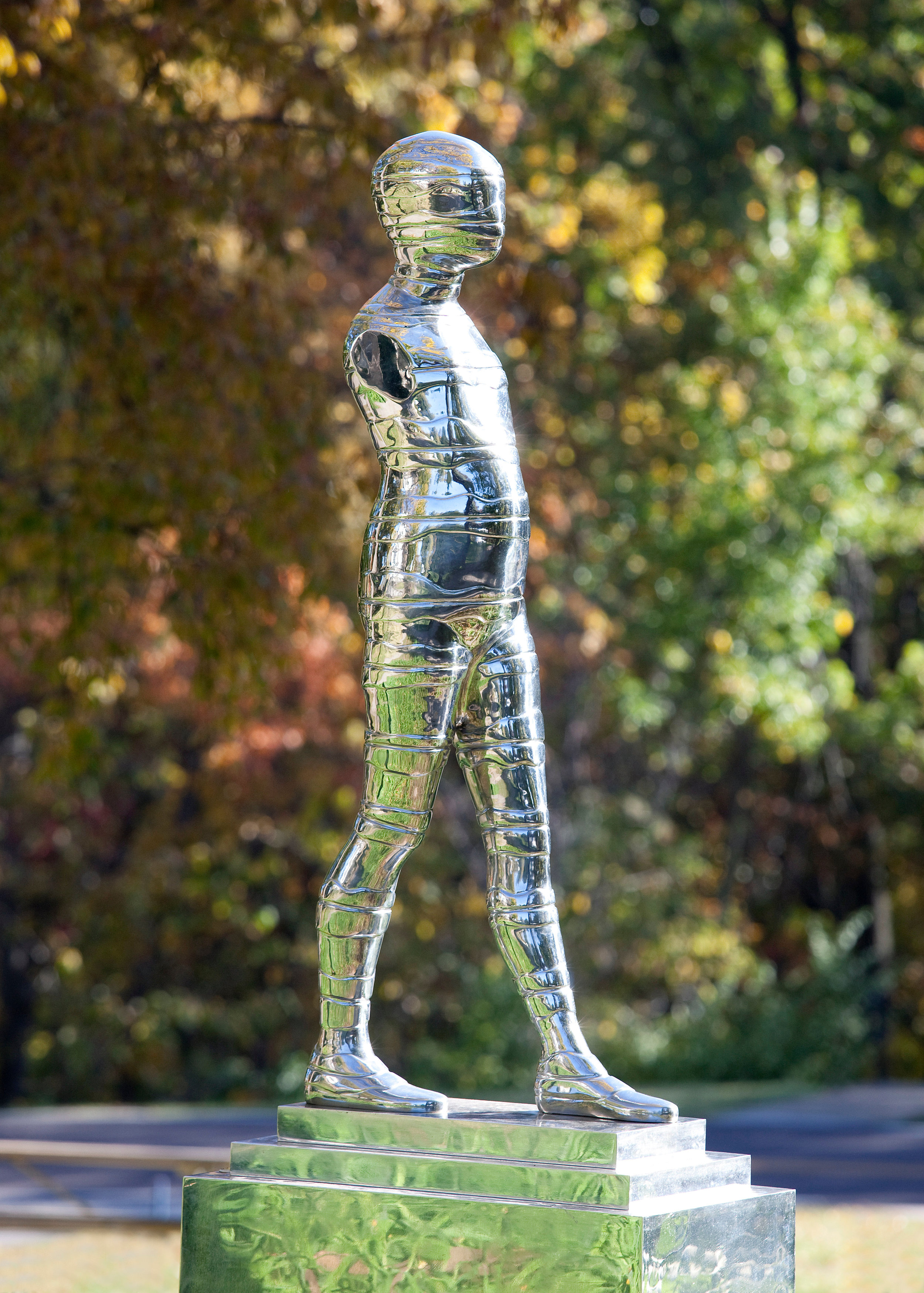 Ernest Trova, Fall Man_Study (Wrapped Manscape Figure), 1984. Photo by Kevin J. Miyazaki..jpg