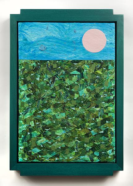 Sun , Douglas Melini, 2017, oil and acrylic on canvas