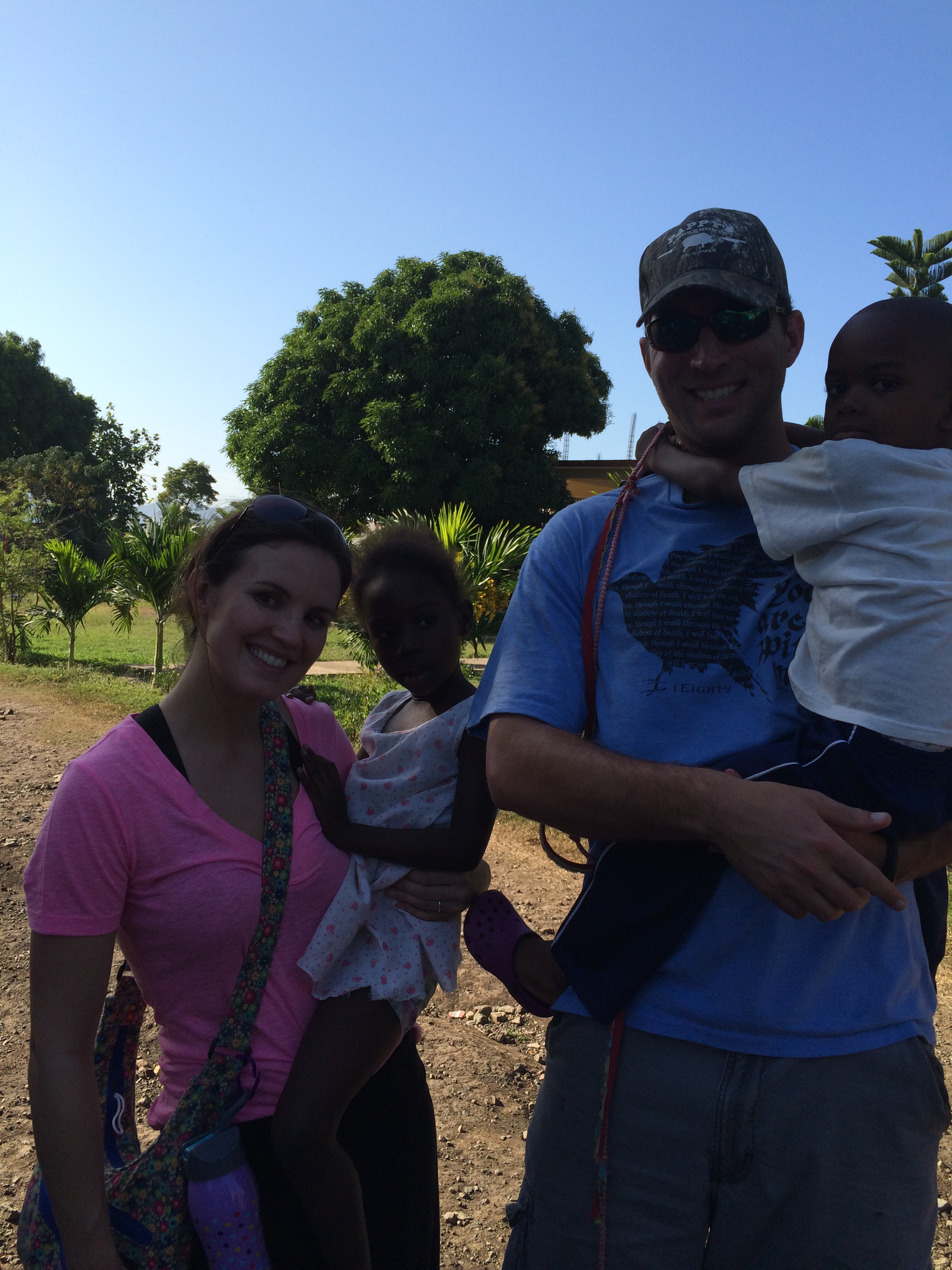 The Wainwrights on a mission trip in Haiti