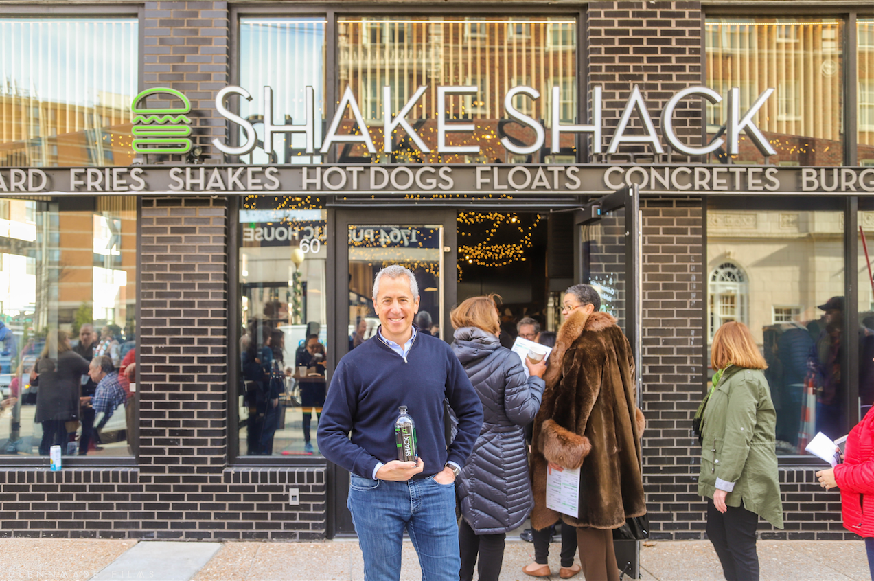 Shake Shack's Danny Meyer, a St. Louis native, visits his restaurant which sits just below The Euclid. Photo by Glenn Reigalman @glennmadefilms