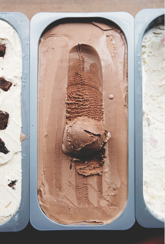 Traditional chocolate gelato at Pastaria.