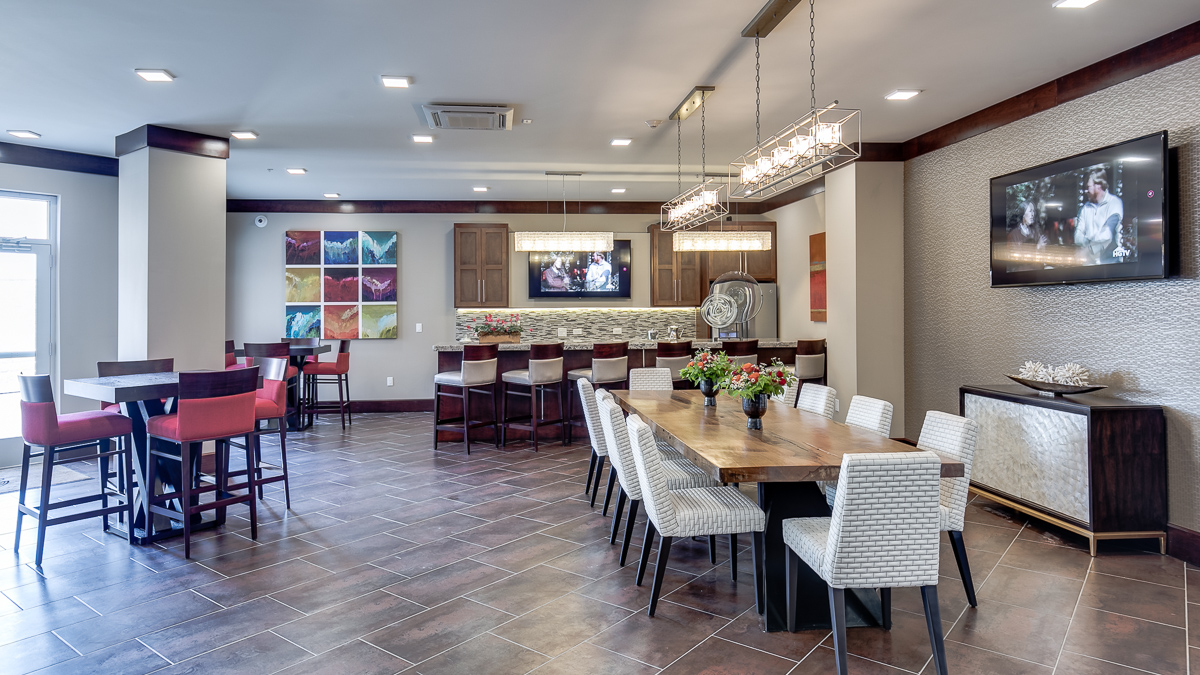 The clubroom at The Barton