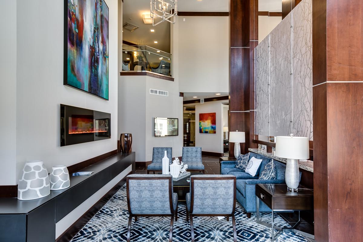The lobby at The Barton