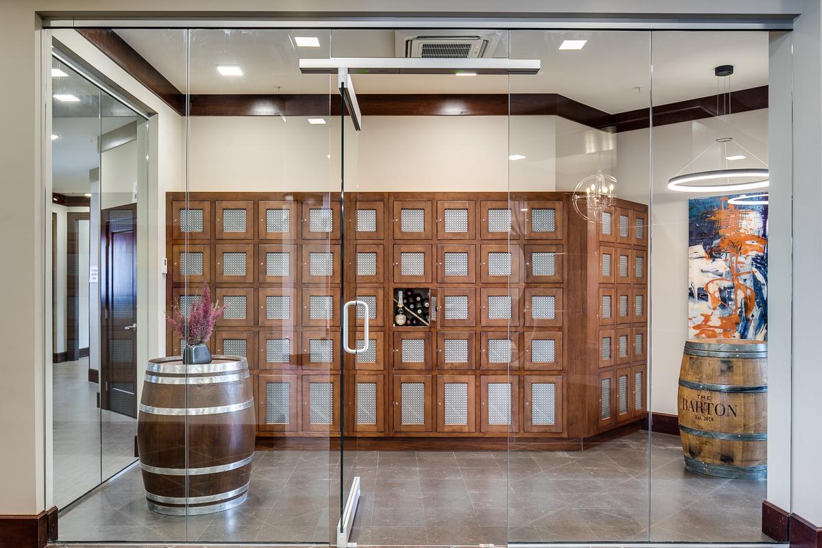 The wine storage room at The Barton.