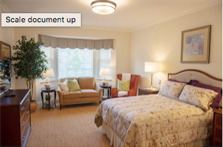 A look inside one of 18 new suites added to the Assisted Living/Memory Care unit.