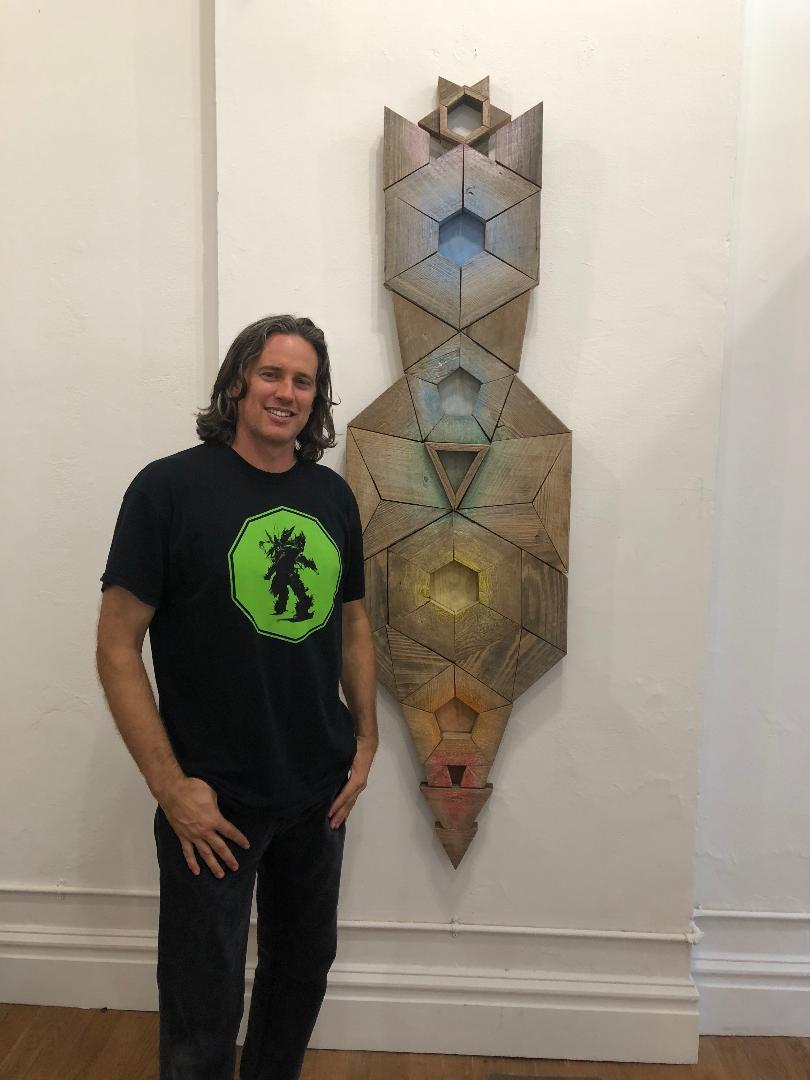 Cherokee Street Gallery founder and artist, Benjamin Lowder, exhibiting his artwork.