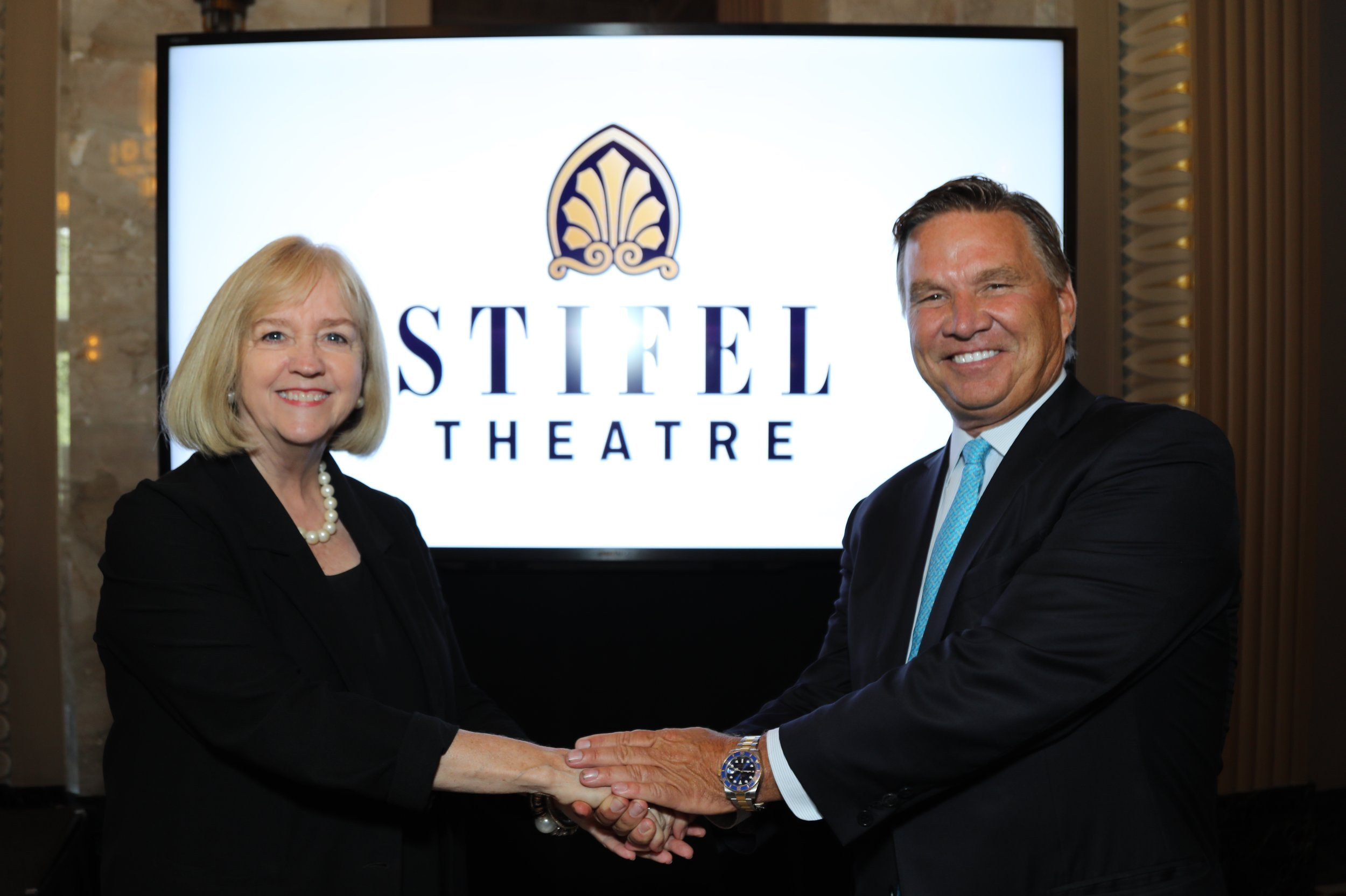 St. Louis Mayor Lyda Krewson with Ron Kruszewski, Chairman and CEO of Stifel Financial Corp. Photo by Diane Anderson