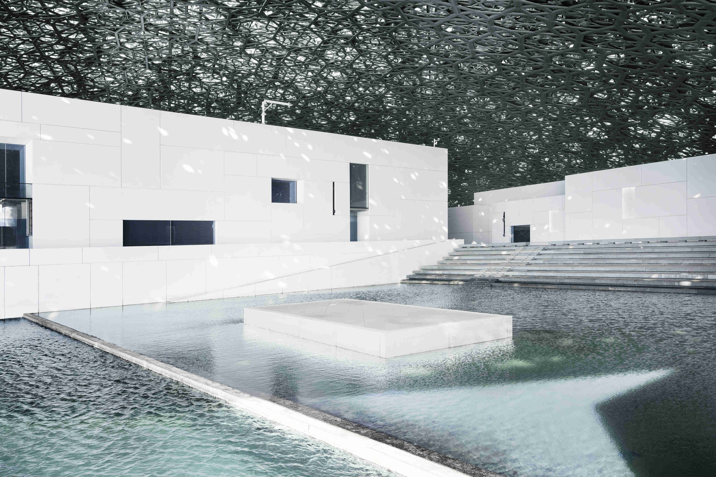 Louvre Abu Dhabi's plaza © Louvre Abu Dhabi, Photography: Mohamed Somji