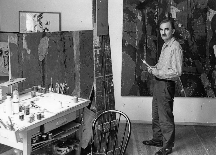 Arthur Osver in his studio, c. 1968.