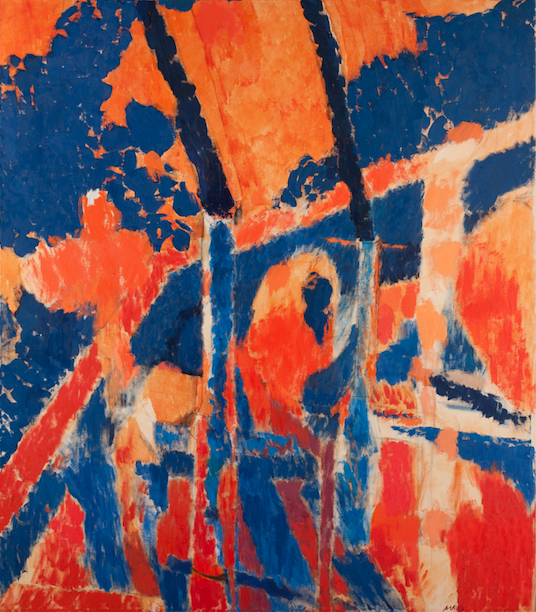 "Arthur Osver, Duo, c. 1966. Oil on canvas, 62 7/16 x 54 5/8"". Saint Louis Art Museum, Gift of Morris Moscowitz, 490:1979."