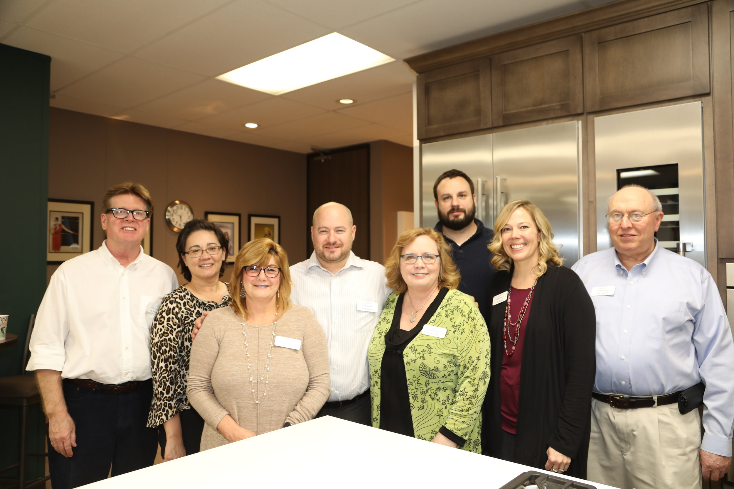 Members of the AUTCO family at an open house for Gaggenau.