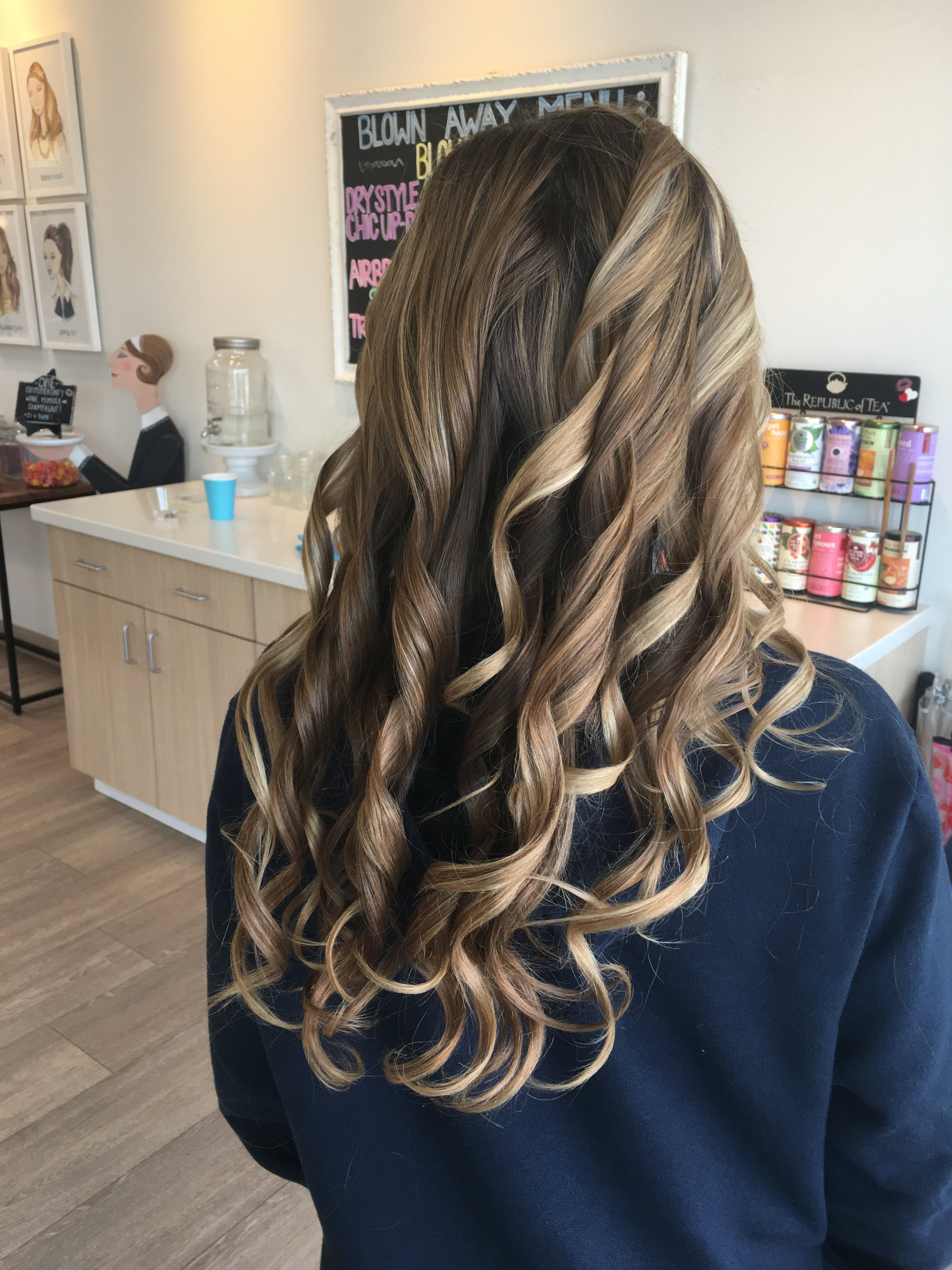"""Beach waves,"" styled at Blown Away."