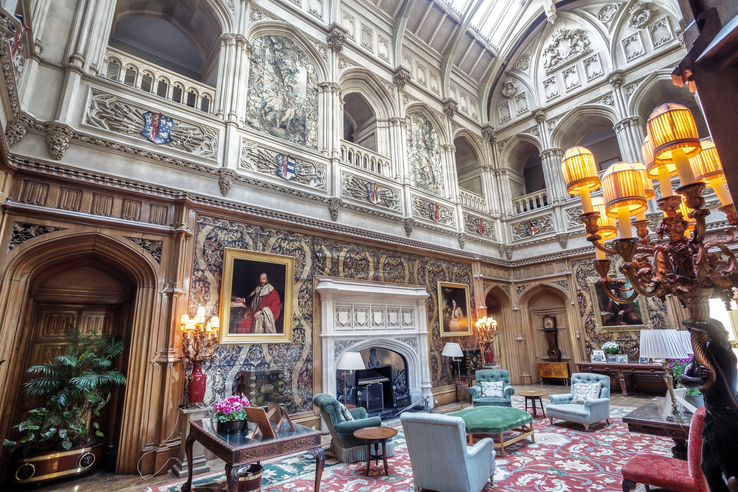"""Completed in the 1860s, the spectacular Gothic-style Saloon is the """"heart"""" of the Castle."""