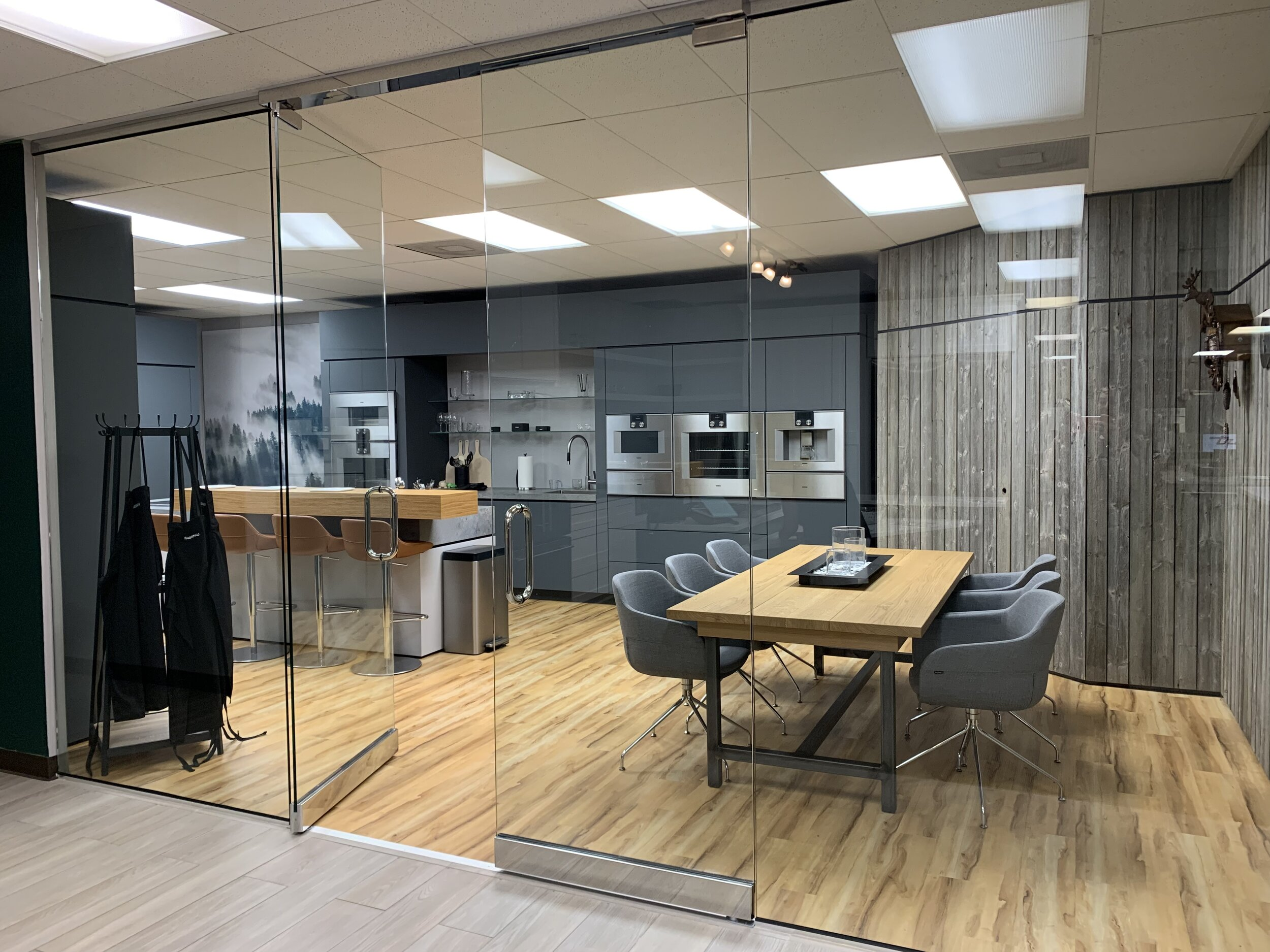 The Gaggenau showroom can be found at AUTCOhome Appliance store in Fenton, 1694 Larkin Williams Rd.