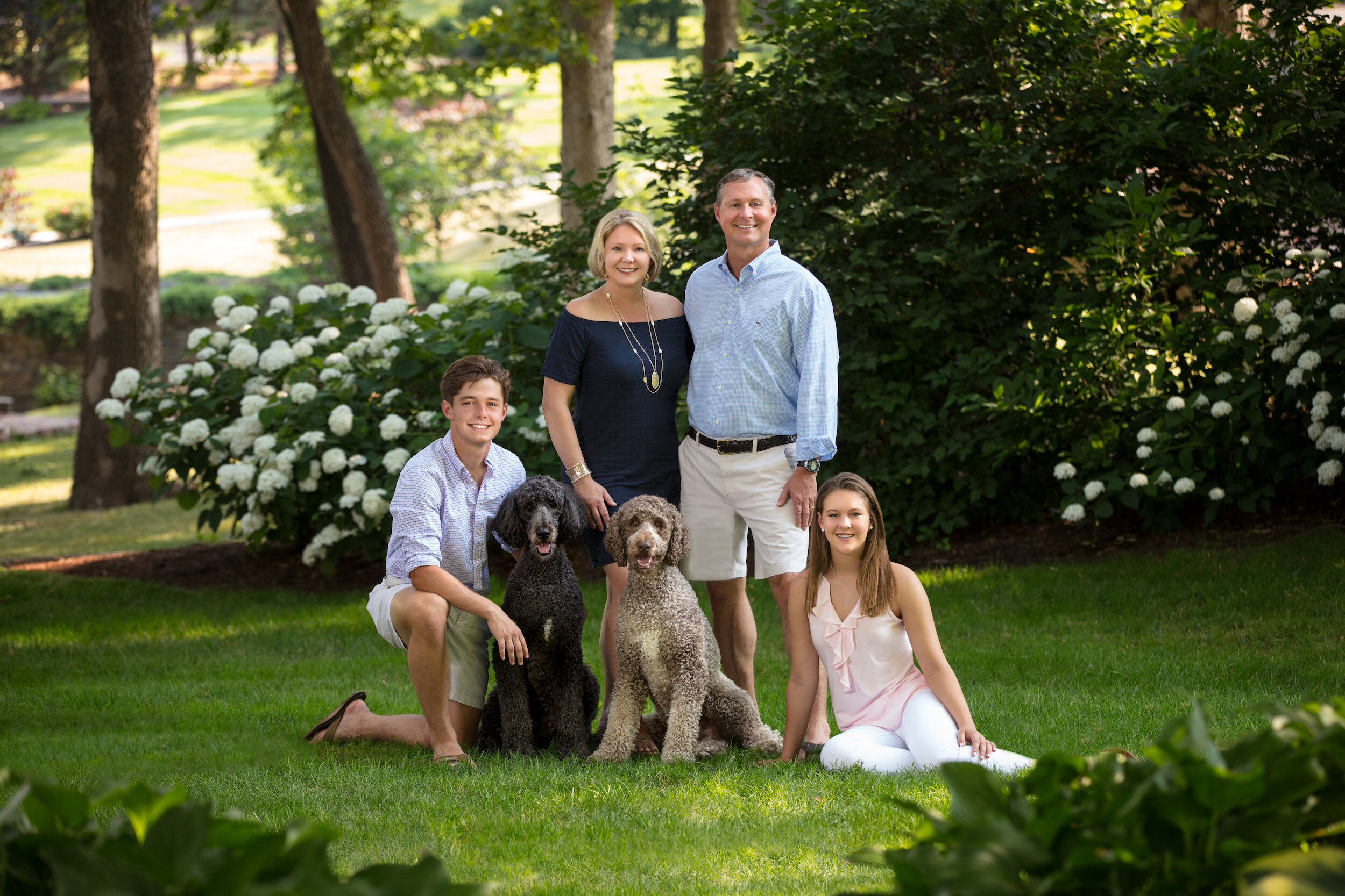 A smooth as silk family portrait session with a great looking family and their pets.