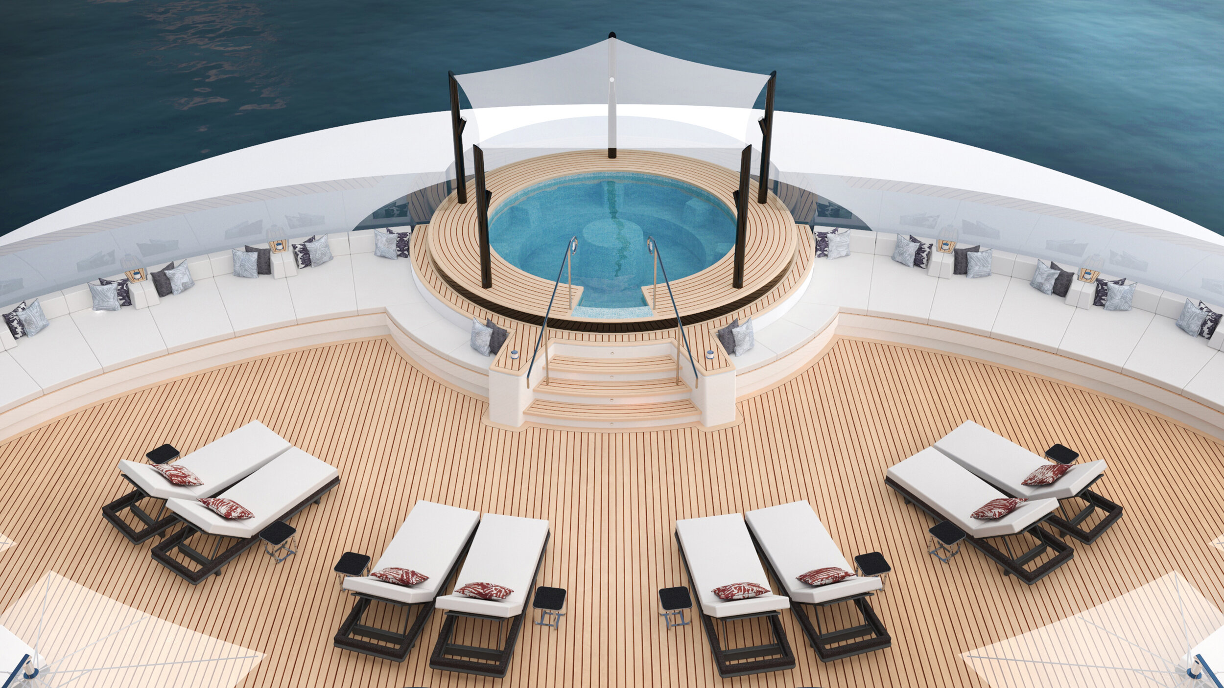 Each yacht will offer signature spa services aboard the vessel.