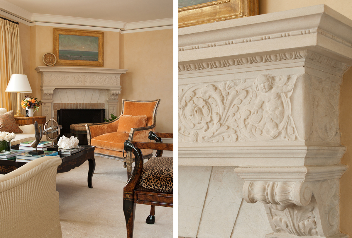 spanish revival fireplace mantle