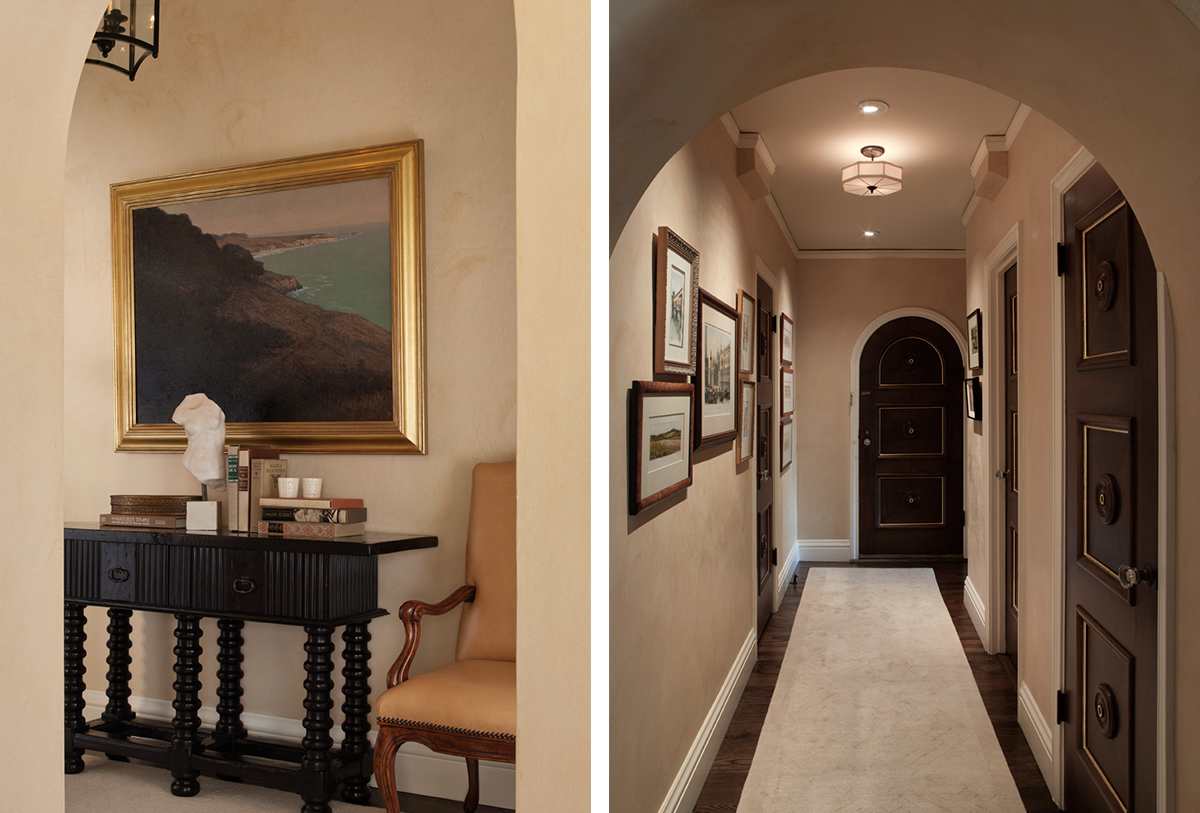 entry vignette and hallway