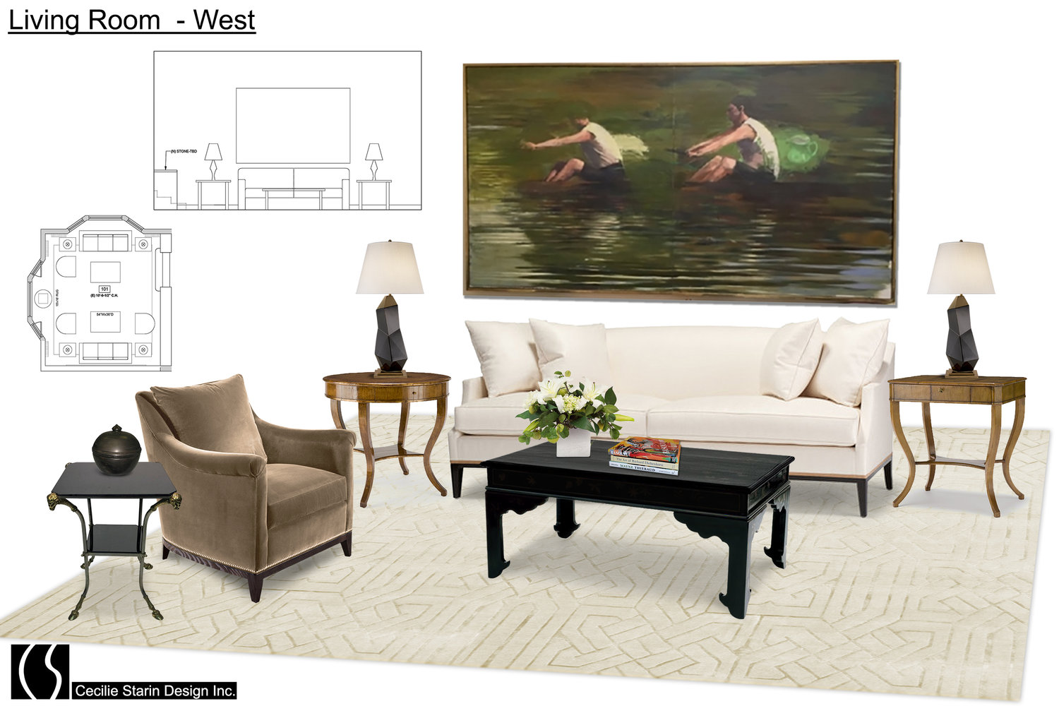 Mood Board Cecilie Starin Design San Francisco Bay Area