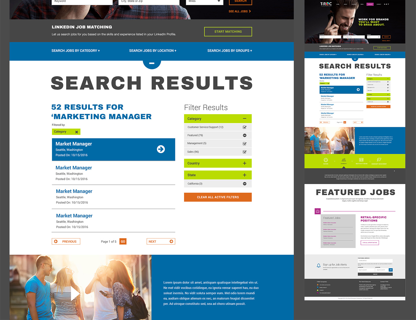 Job search features expanded