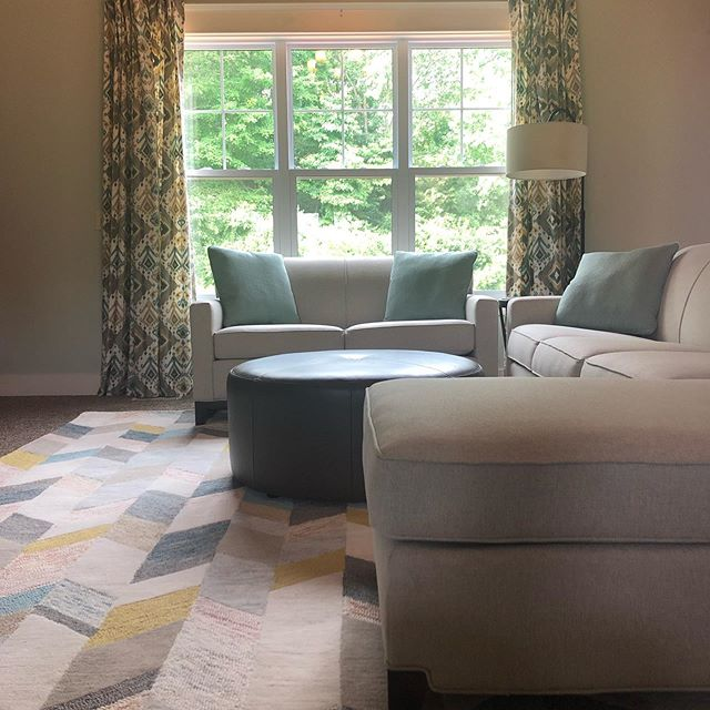 Summer sure is a busy time for everyone, but I've managed to sneak in a few installs over the last month, including this newly serene space for a special family who was very busy welcoming their brand new baby into the world. I'm just imagining how lovely it would be to come home to this! 😍 The special quote was custom made by @featherandbirch.