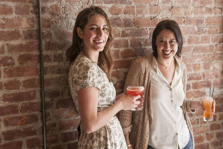 Ivy Mix, left, and Julie Reiner at their bar, Leyenda, which is set to open in Carroll Gardens, Brooklyn, the week of May 25.PHOTO:ZANDY MANGOLD