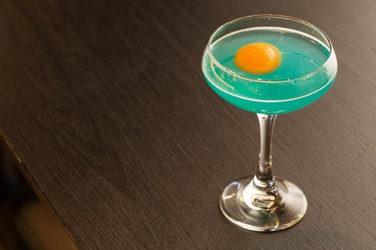 The Gun Metal Blue cocktail PHOTO:ANDREW KIST