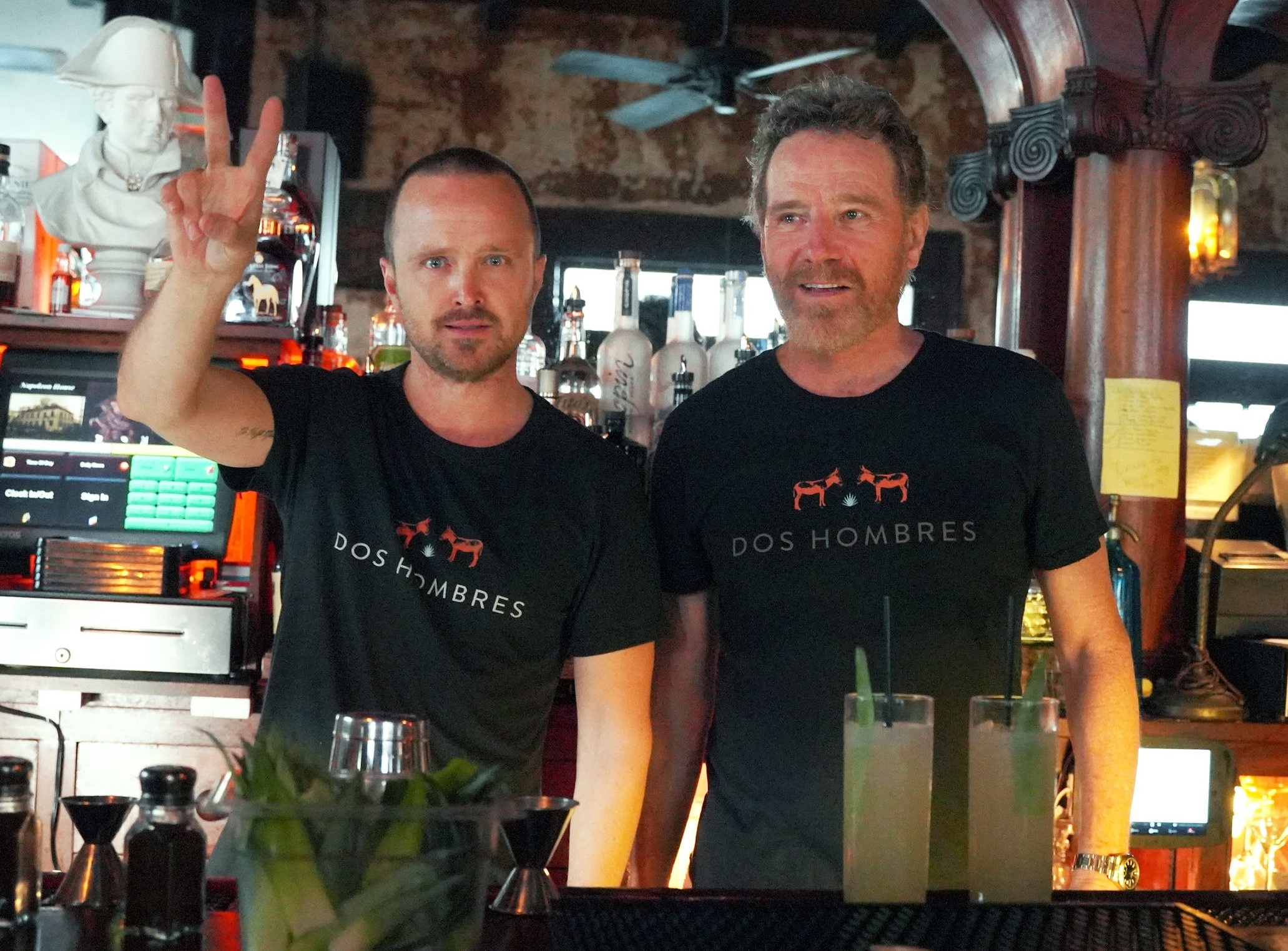 Aaron Paul And Bryan Cranston Debut New Mezcal, Dos Hombres -