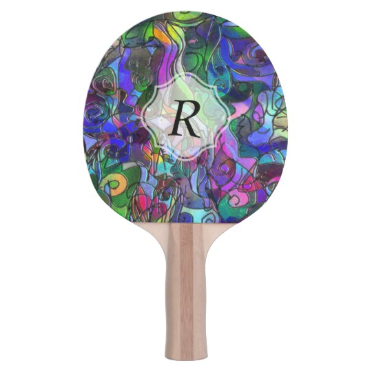 monogram_colorful_abstract_w_swirls_and_lines_ping_pong_paddle.jpg