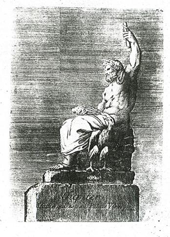 Jupiter  [Iuppiter Verospi] in Jean Barbault,   Recueil des divers monumens anciens  , Roma, 1770, pl. 64
