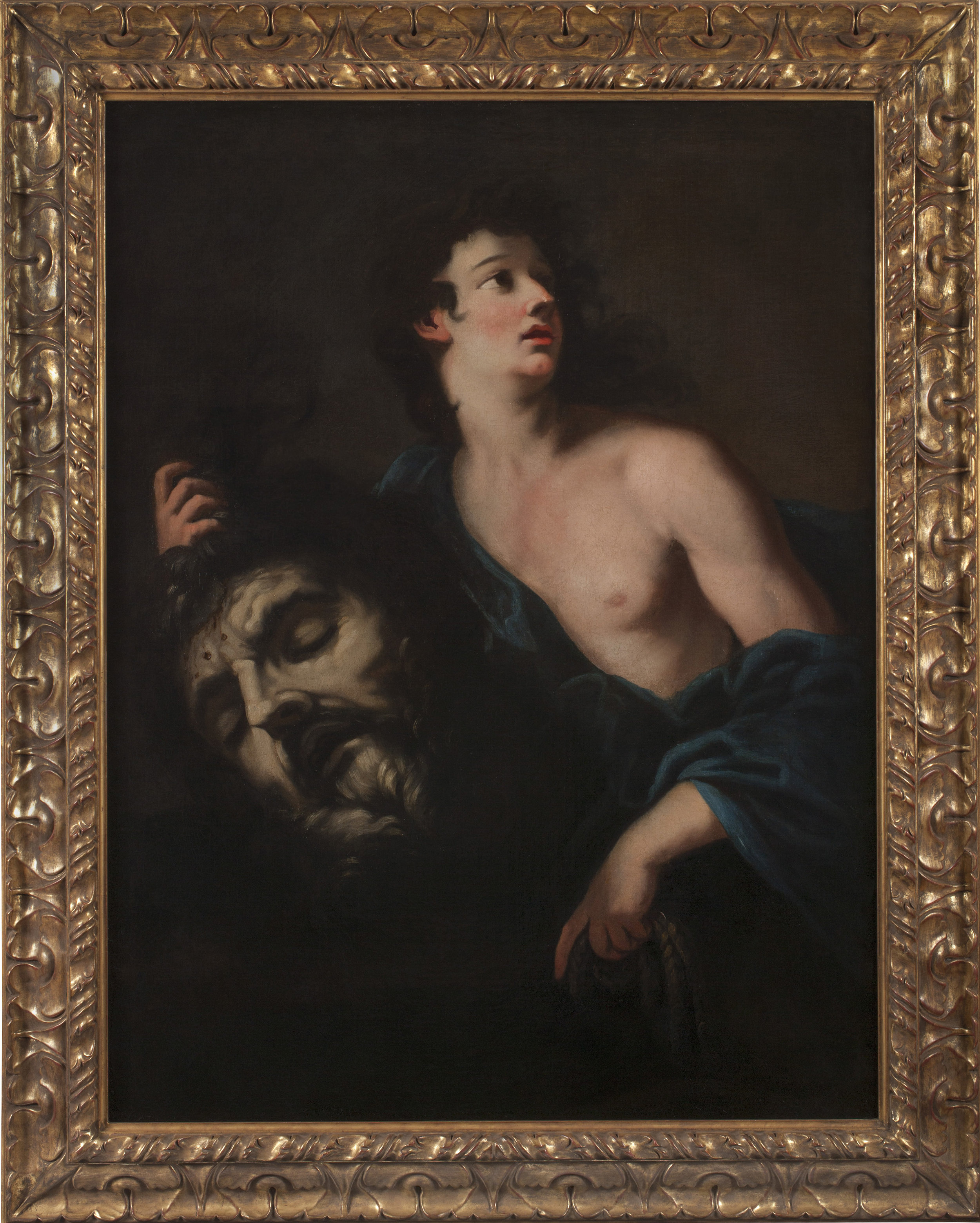 PIER (PIETRO) DANDINI   (Florence, 1646–1712)     David with the Head of Goliath   Oil on canvas    50 x 37 inches  (128.3 x 96 cm)