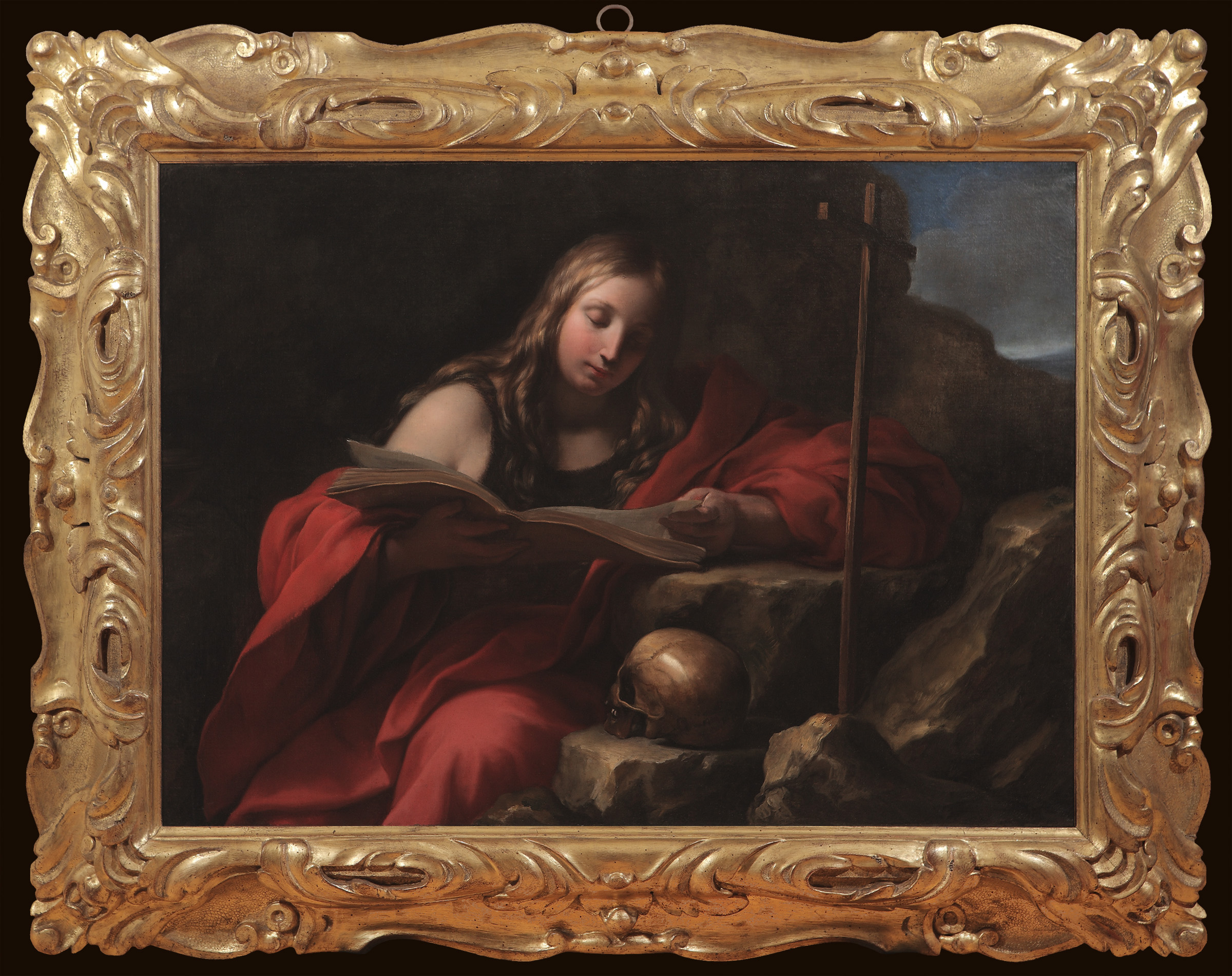 ONORIO MARINARI   (Florence, 1627-1716)     The Penitent Magdalene   Oil on canvas, 35 x 47 ¾ inches (89 x 121 cm)