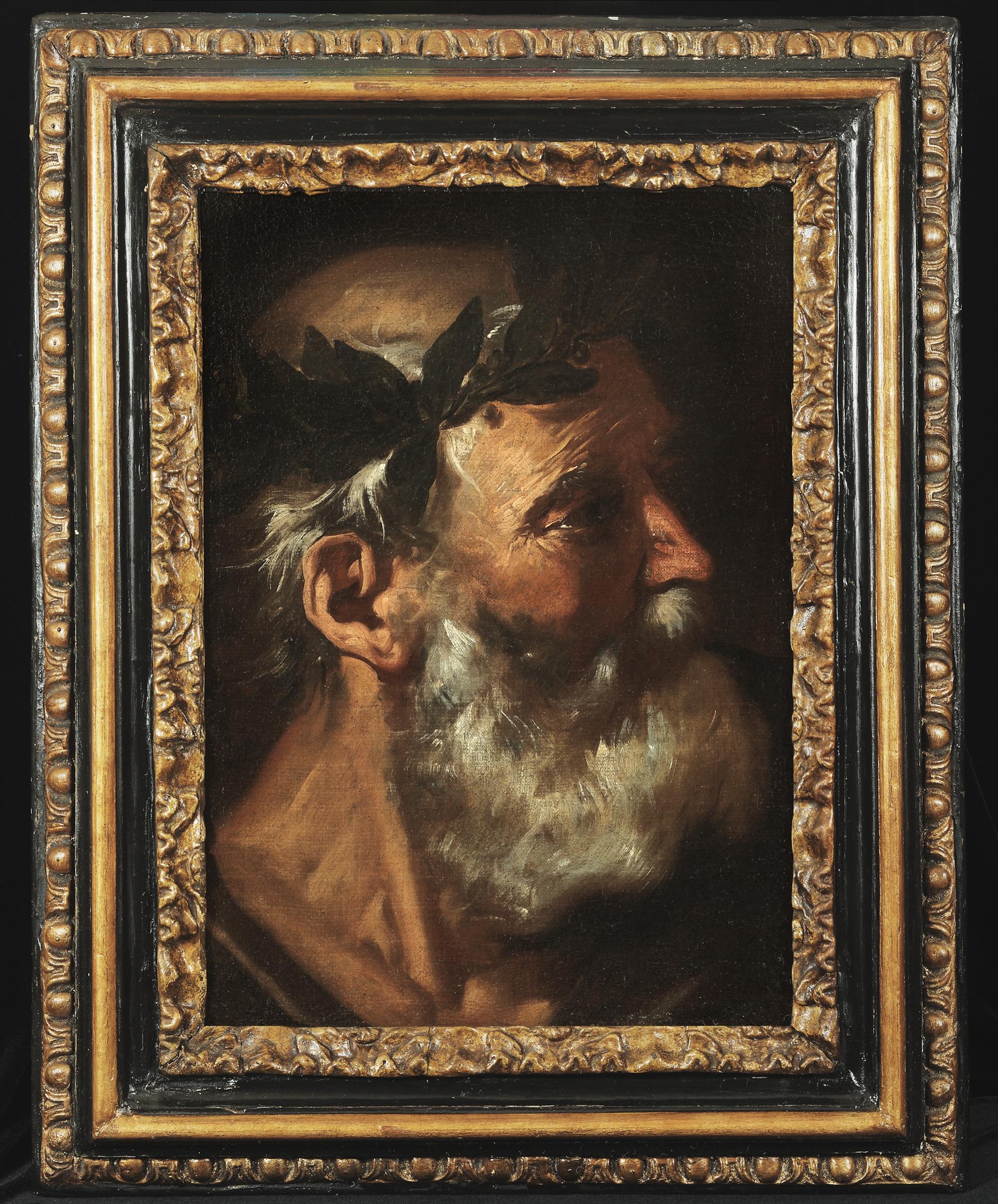 Pier Francesco Mola,  Head of a Classical Poet (Homer or Socrates?)