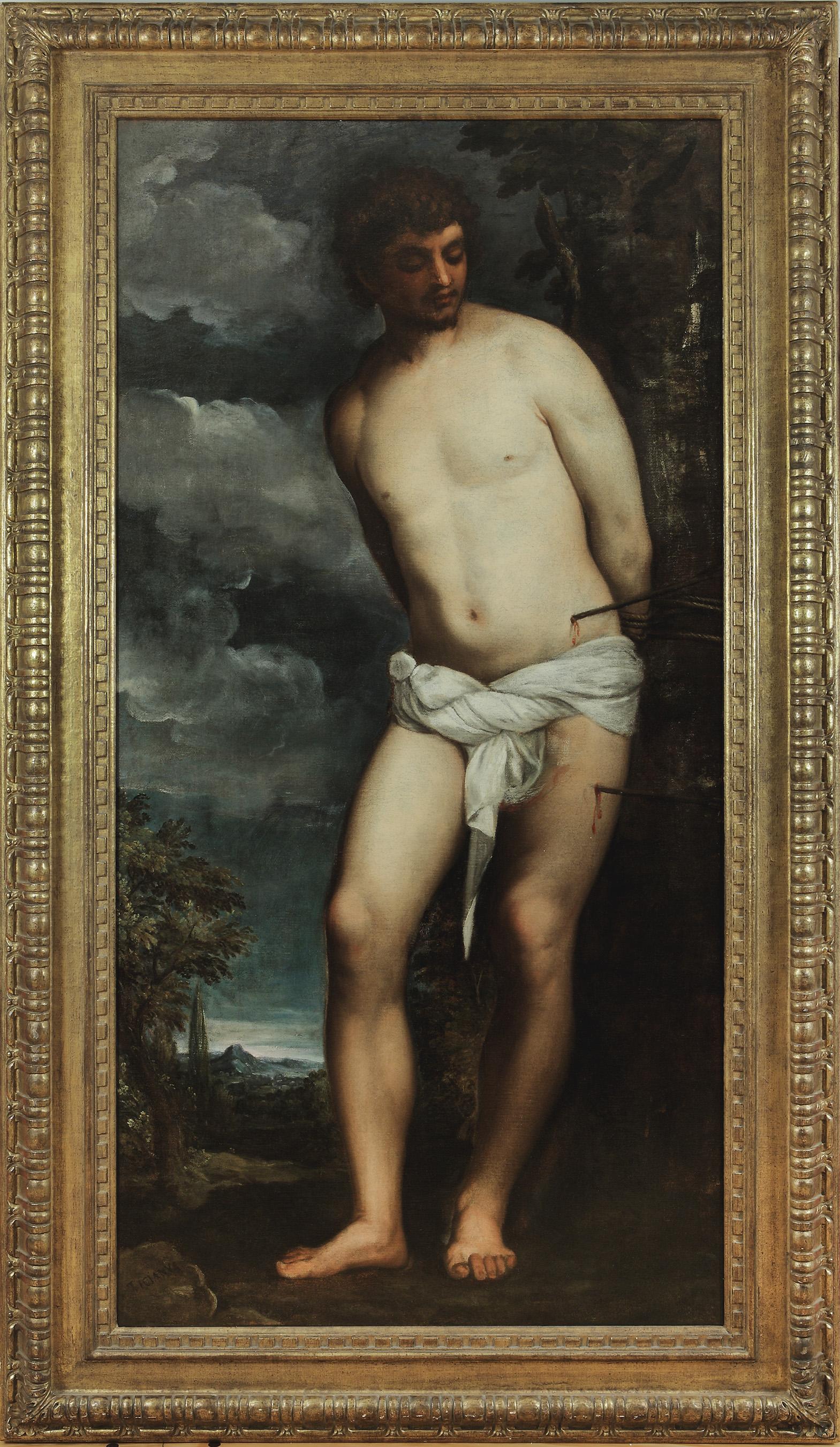 Tiziano Vecellio, called Titian,  St. Sebastian