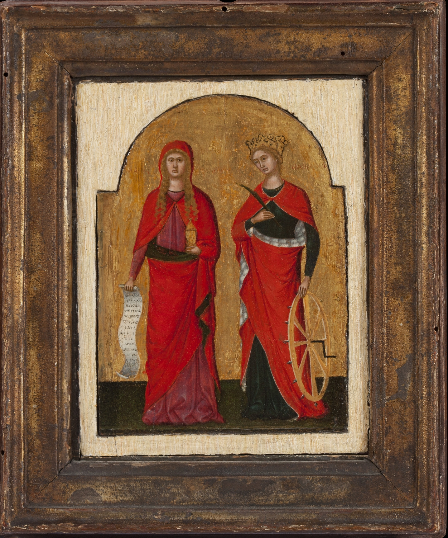 Lorenzo Veneziano,  Saints Mary Magdalene and Catherine of Alexandria