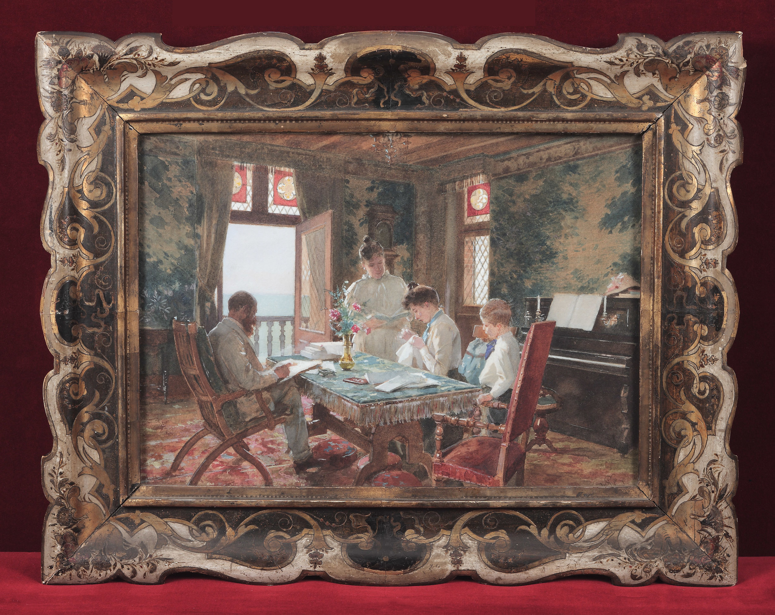 Julius Schmid,  Leisure Moments (The Goriany Badarous Family at home in Paris)