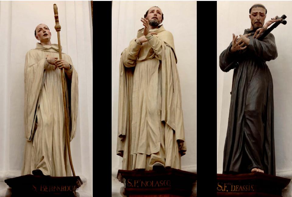 Fig. 2 . José de Mora, serie de santos, capilla del Cardenal Salazar, Catedral de Córdoba