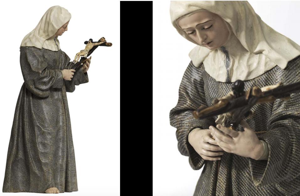 Fig. 9.  José y Diego de Mora, Santa Margarita de Cortona, Colección particular