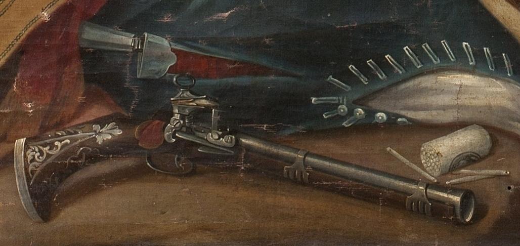 Detail of gun in Cabrera painting