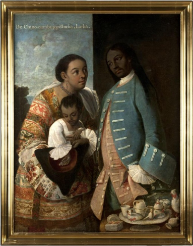 Cabrera,  From China Cambuo and Indian, Wolf  (no. 10), as now framed (Museo de América, Madrid)