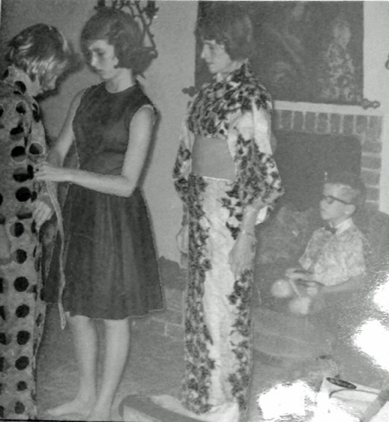 """A family party at """"La Casita,"""" Sonoma, 1968 - From left the former owner, her sister, her mother, her brother"""